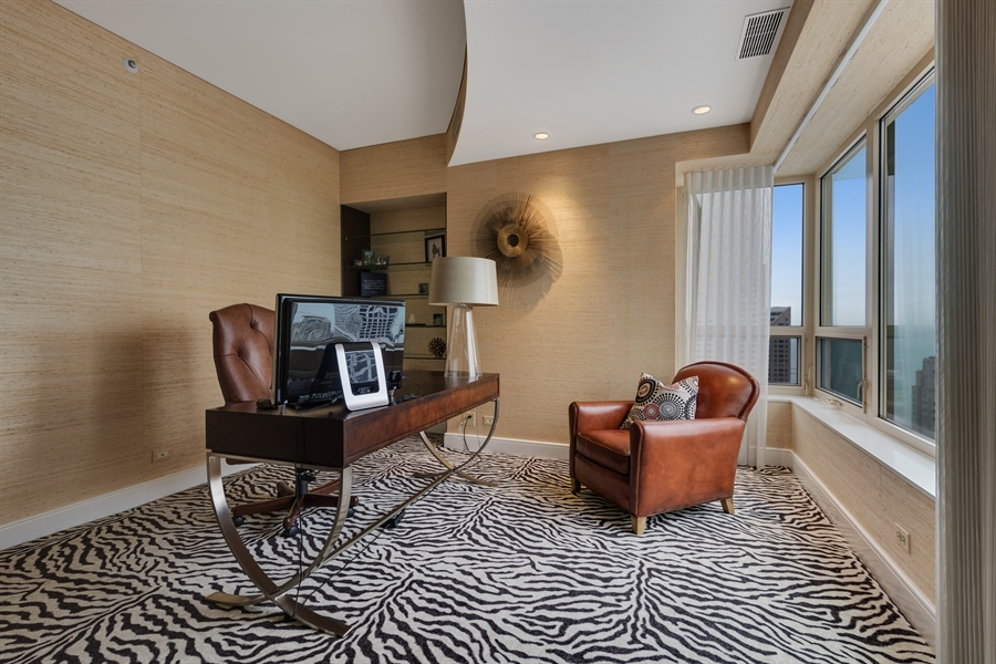 Real Estate Photography - 800 N Michigan Ave, Unit 4801, Chicago, IL, 60611 - 3rd Bedroom