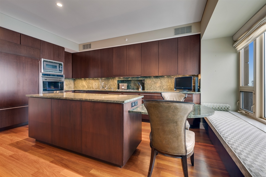 Real Estate Photography - 800 N Michigan Ave, Unit 4801, Chicago, IL, 60611 - Kitchen