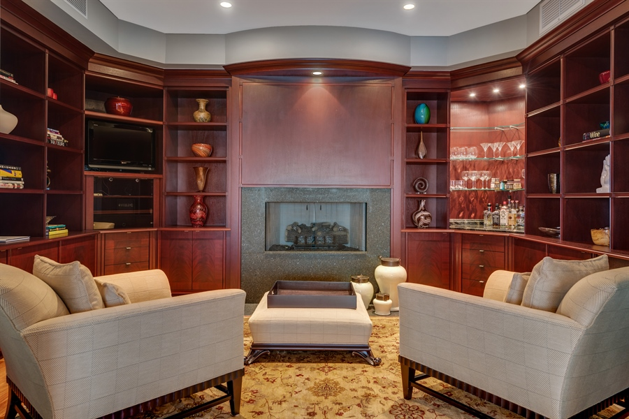 Real Estate Photography - 800 N Michigan Ave, Unit 4801, Chicago, IL, 60611 - Sitting Room
