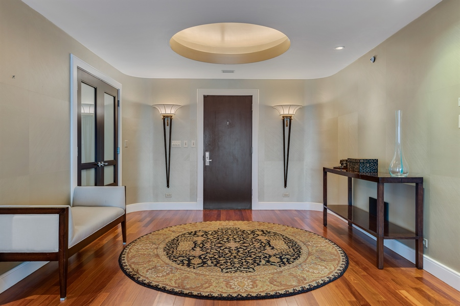 Real Estate Photography - 800 N Michigan Ave, Unit 4801, Chicago, IL, 60611 - Foyer