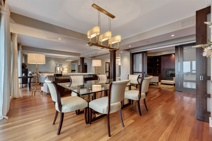 Real Estate Photography - 800 N Michigan Ave, Unit 4801, Chicago, IL, 60611 - Dining Area