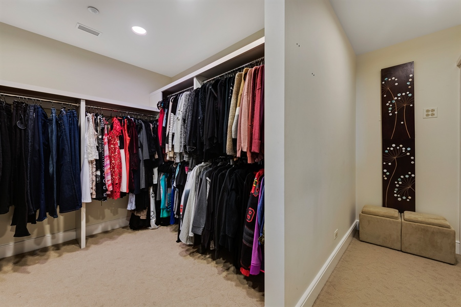 Real Estate Photography - 800 N Michigan Ave, Unit 4801, Chicago, IL, 60611 - Master Bedroom Closet