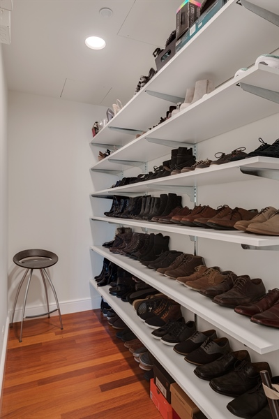 Real Estate Photography - 800 N Michigan Ave, Unit 4801, Chicago, IL, 60611 - Shoe Closet