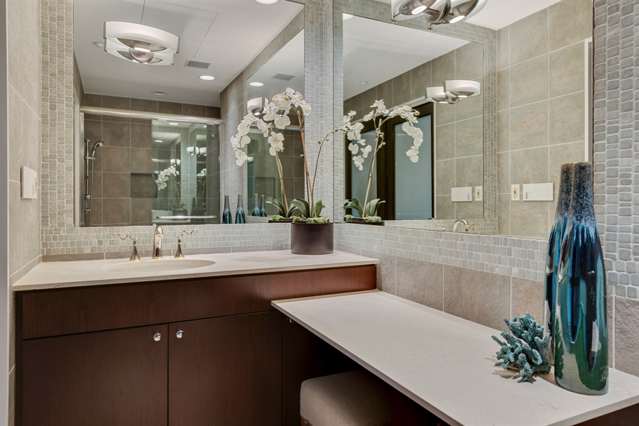 Real Estate Photography - 800 N Michigan Ave, Unit 4801, Chicago, IL, 60611 - 2nd Bathroom