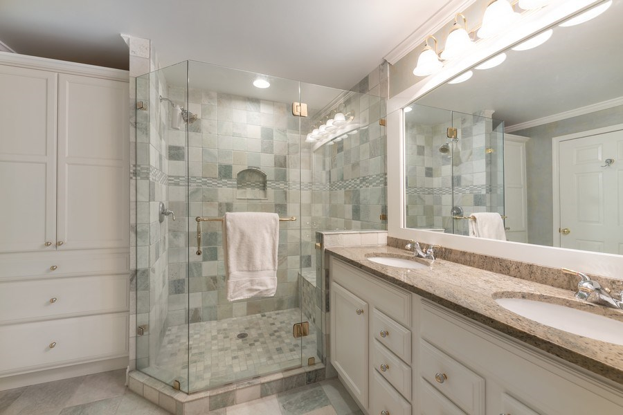Real Estate Photography - 3018 Lexington, Glenview, IL, 60026 - Master Bathroom