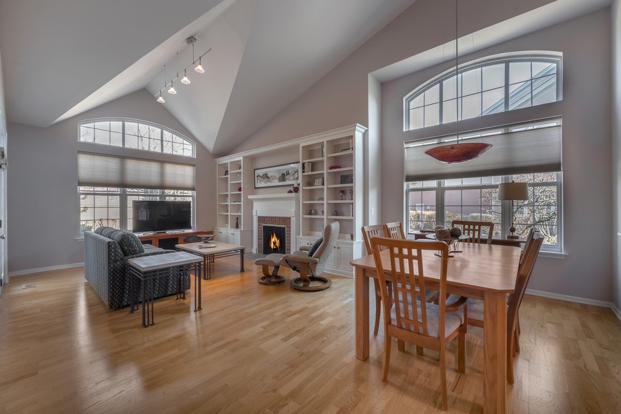 Real Estate Photography - 3018 Lexington, Glenview, IL, 60026 - Living Room / Dining Room