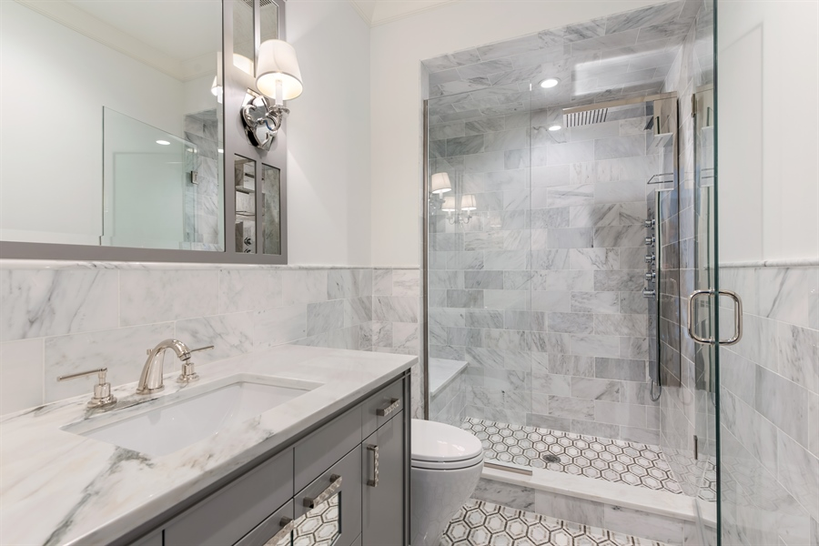 Real Estate Photography - 790 Prospect Ave, Winnetka, IL, 60093 - 3rd Bathroom
