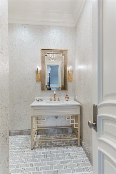 Real Estate Photography - 790 Prospect Ave, Winnetka, IL, 60093 - Powder Room
