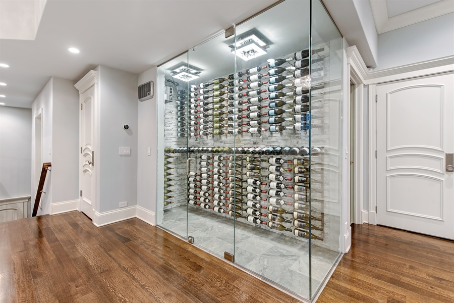 Real Estate Photography - 790 Prospect Ave, Winnetka, IL, 60093 - Wine Cellar