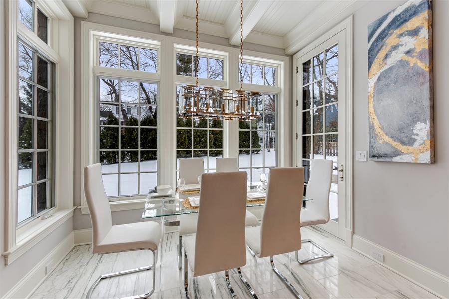 Real Estate Photography - 790 Prospect Ave, Winnetka, IL, 60093 - Breakfast Area