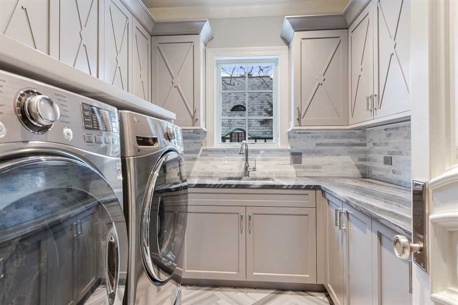 Real Estate Photography - 790 Prospect Ave, Winnetka, IL, 60093 - Laundry Room