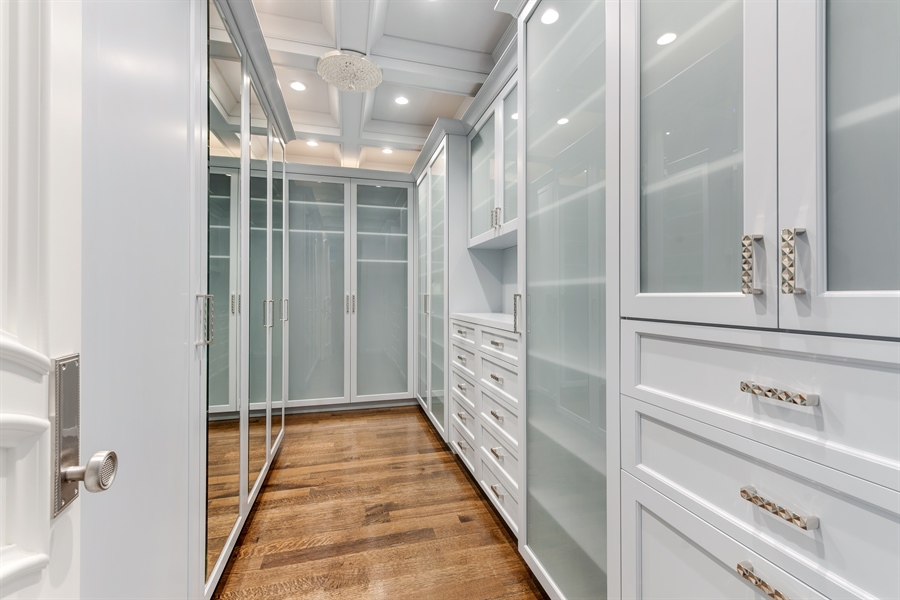 Real Estate Photography - 790 Prospect Ave, Winnetka, IL, 60093 - Master Bedroom Closet