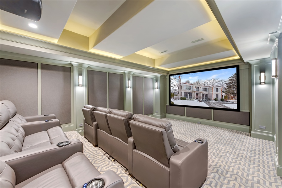 Real Estate Photography - 790 Prospect Ave, Winnetka, IL, 60093 - Theater