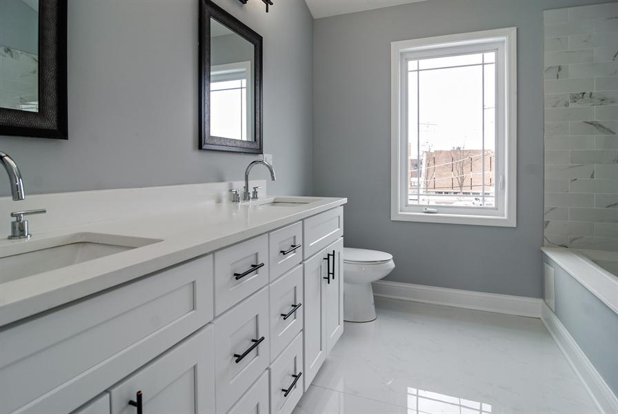 Real Estate Photography - 3512 East Ave, Berwyn, IL, 60402 - Master Bathroom
