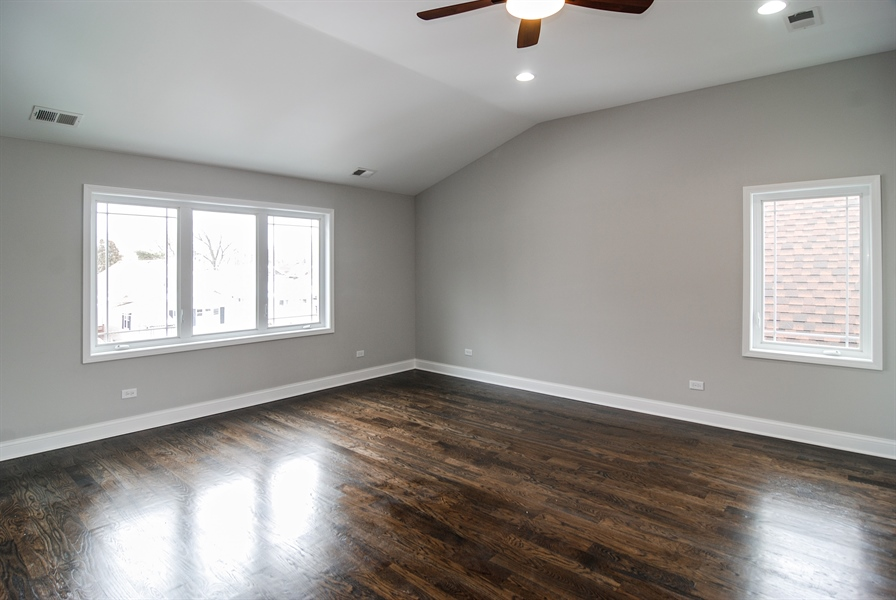 Real Estate Photography - 3512 East Ave, Berwyn, IL, 60402 - Master Bedroom