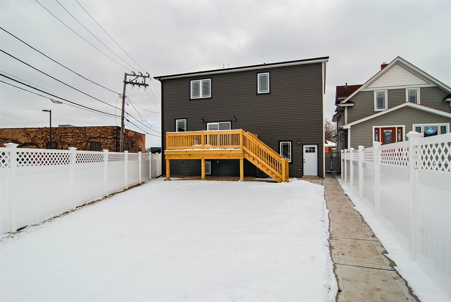 Real Estate Photography - 3512 East Ave, Berwyn, IL, 60402 - Rear View