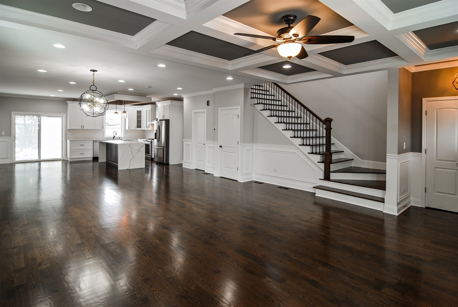 Real Estate Photography - 3512 East Ave, Berwyn, IL, 60402 - Living Room / Dining Room