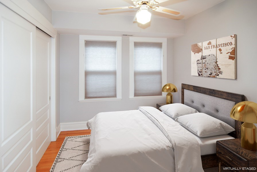 Real Estate Photography - 413 N Marion Ave, Oak Park, IL, 60302 - 2nd Bedroom