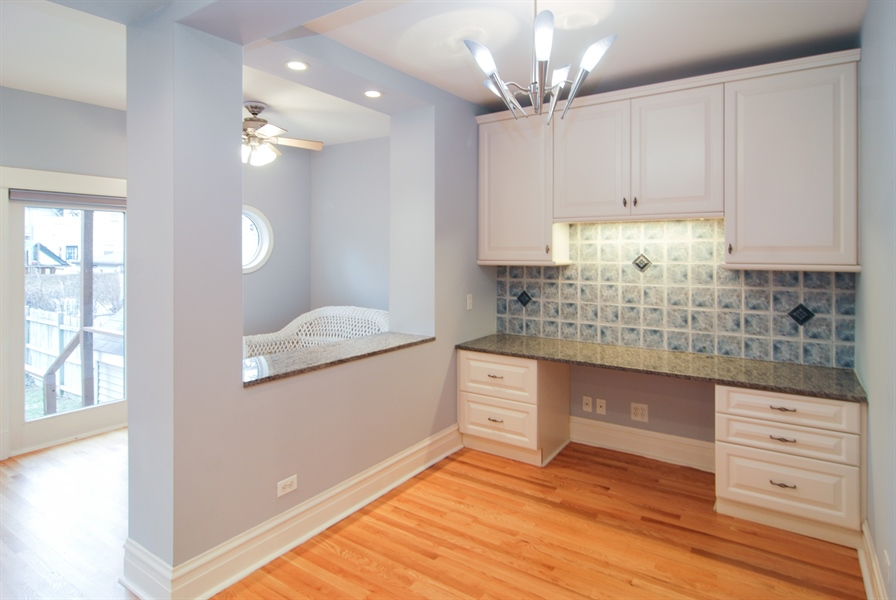 Real Estate Photography - 413 N Marion Ave, Oak Park, IL, 60302 - Kitchen Office Area