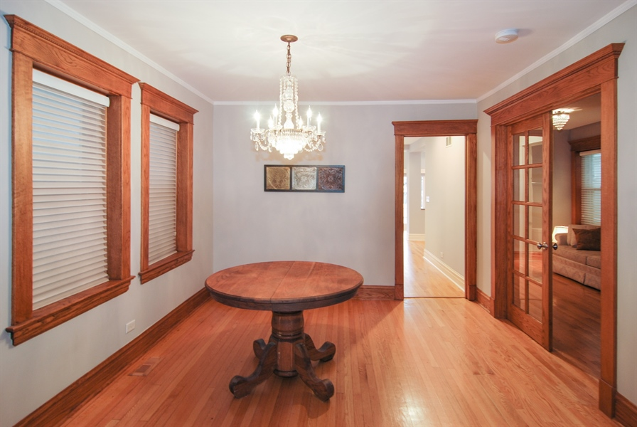 Real Estate Photography - 413 N Marion Ave, Oak Park, IL, 60302 - Dining Room