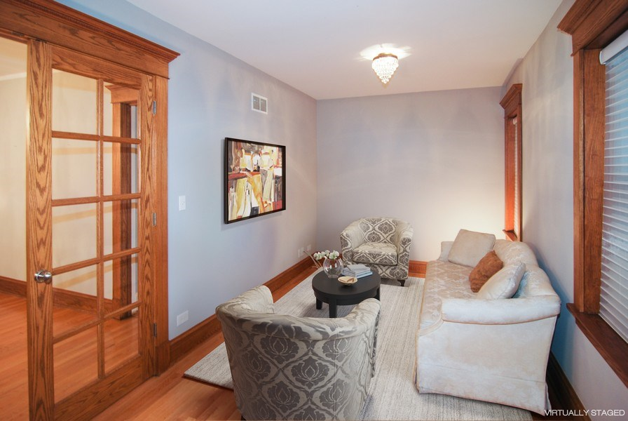 Real Estate Photography - 413 N Marion Ave, Oak Park, IL, 60302 - 1st Floor Bedroom or Office