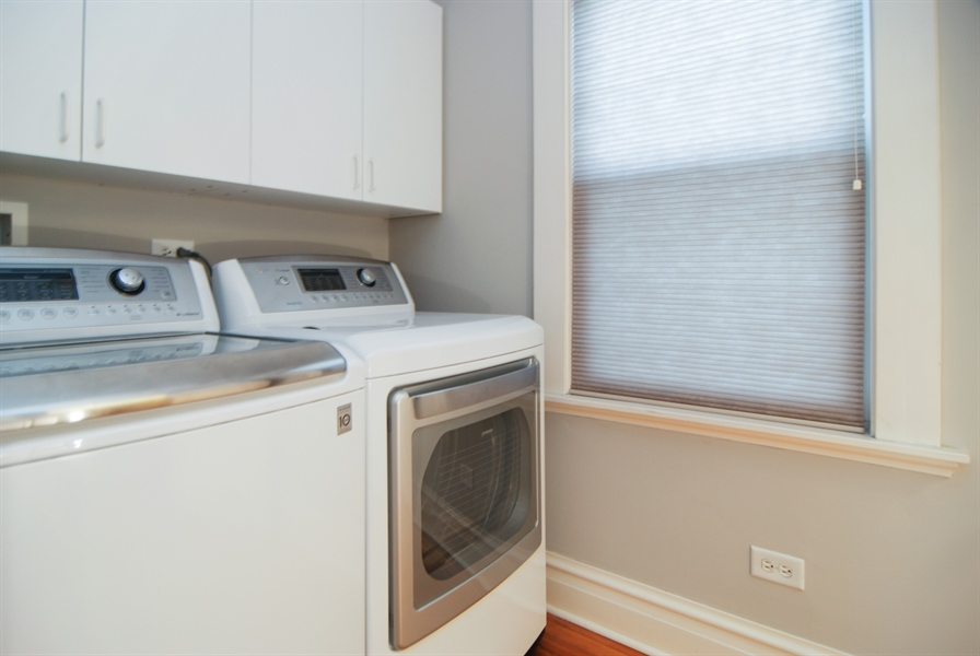 Real Estate Photography - 413 N Marion Ave, Oak Park, IL, 60302 - 2nd Floor Laundry