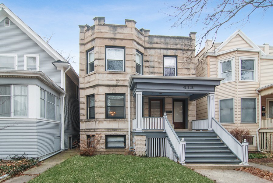 Real Estate Photography - 413 N Marion Ave, Oak Park, IL, 60302 - Front View