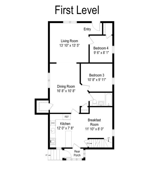 Real Estate Photography - 200 Lathrop Ave, Forest Park, IL, 60130 - Floor Plan