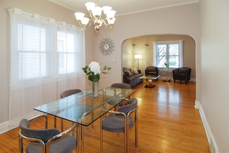 Real Estate Photography - 200 Lathrop Ave, Forest Park, IL, 60130 - Dining Room