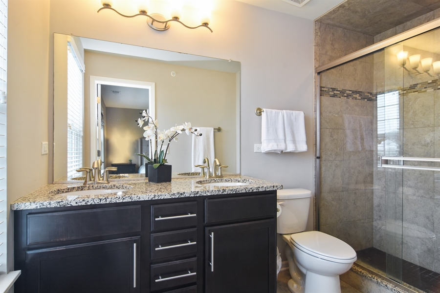 Real Estate Photography - 3197 Coral Lane, Glenview, IL, 60026 - Master Bathroom