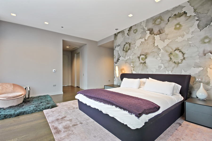 Real Estate Photography - 4 E Elm St, 14N, Chicago, IL, 60611 - Master Bedroom