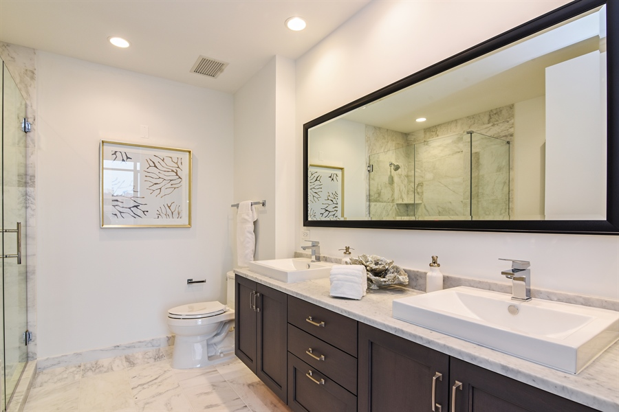 Real Estate Photography - 540 w webster, 313, chicago, IL, 60614 - Master Bathroom