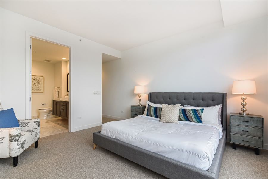 Real Estate Photography - 540 w webster, 313, chicago, IL, 60614 - Master Bedroom