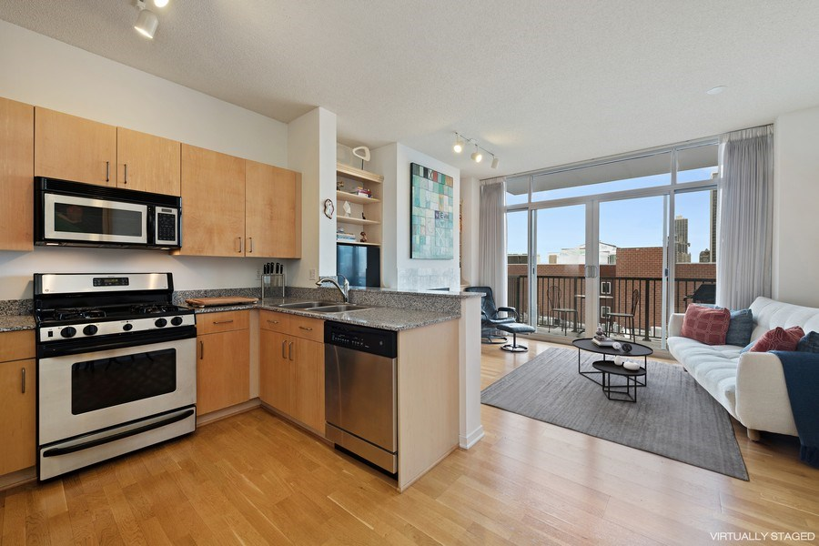 Real Estate Photography - 1546 N Orleans St, Chicago, IL, 60610 - Kitchen / Living Room