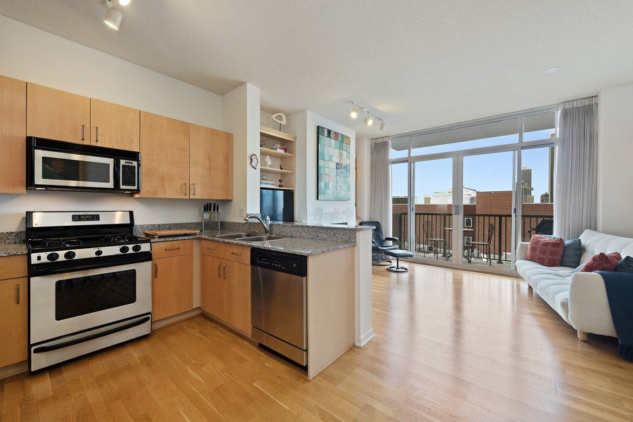 Real Estate Photography - 1546 N Orleans St, Chicago, IL, 60610 - Kitchen/Living