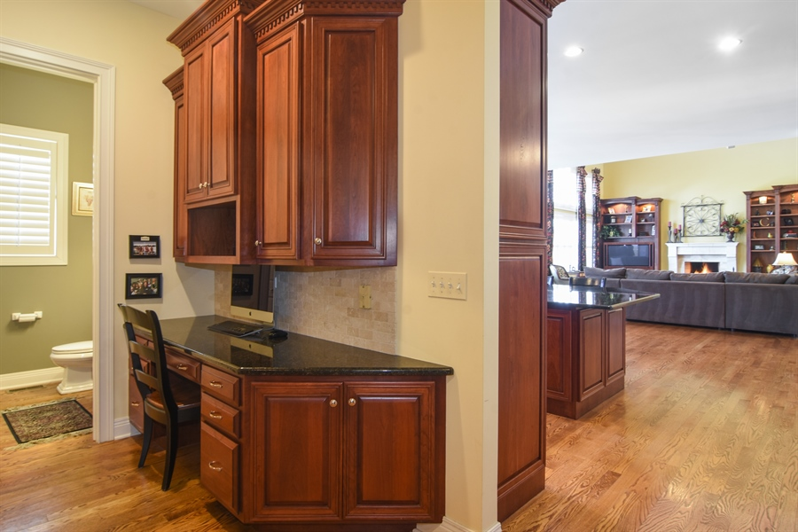 Real Estate Photography - 580 W Ruhl, Palatine, IL, 60074 - Study Nook Outside Office & Kitchen