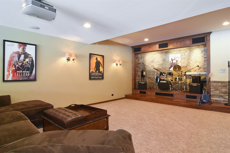 Real Estate Photography - 580 W Ruhl, Palatine, IL, 60074 - Theater Room & Stage