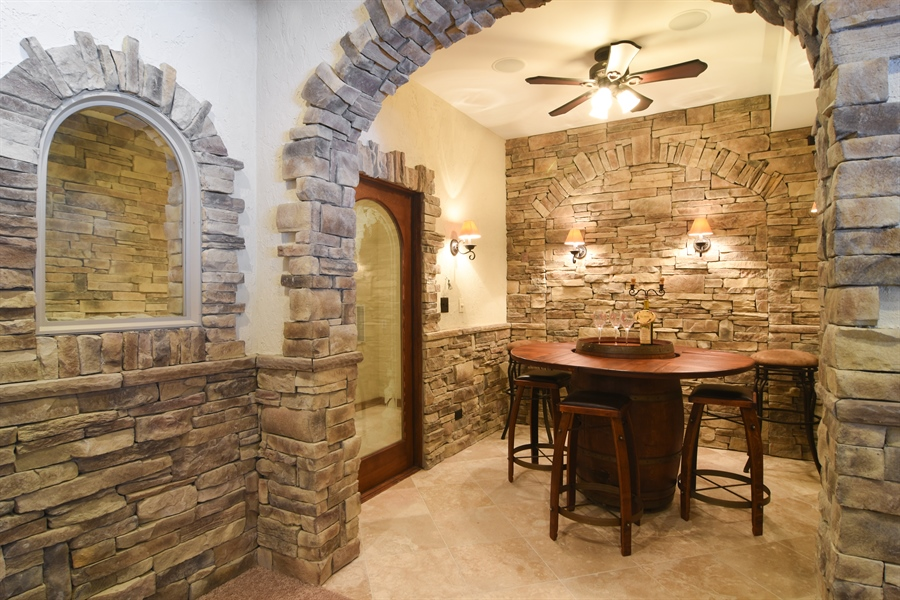 Real Estate Photography - 580 W Ruhl, Palatine, IL, 60074 - Wine Cellar & Tasting Room