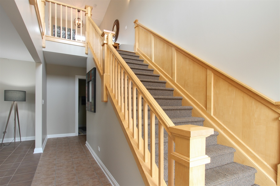 Real Estate Photography - 1313 Behan Rd, Crystal Lake, IL, 60012 - Staircase