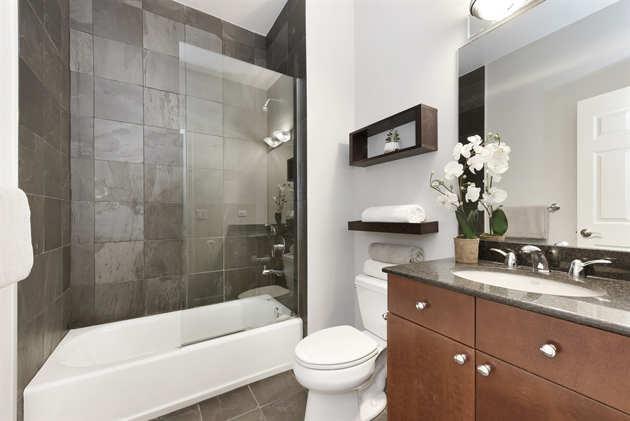Real Estate Photography - 738 N. Hudson, Chicago, IL, 60654 - 3rd Bathroom