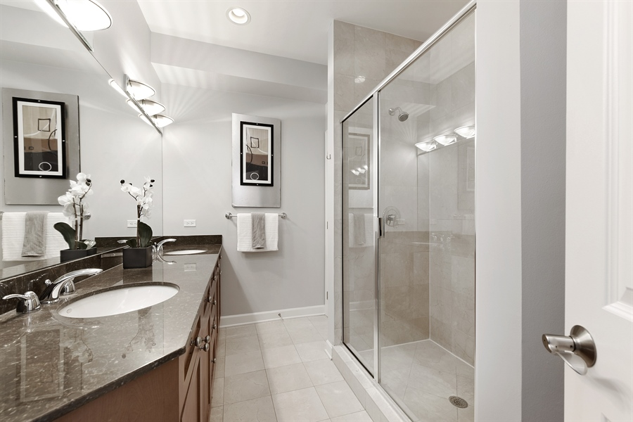 Real Estate Photography - 738 N. Hudson, Chicago, IL, 60654 - Master Bathroom
