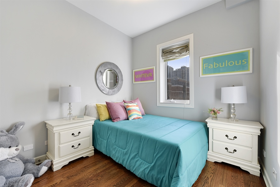 Real Estate Photography - 738 N. Hudson, Chicago, IL, 60654 - 3rd Bedroom