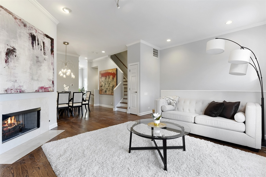 Real Estate Photography - 738 N. Hudson, Chicago, IL, 60654 - Living Room