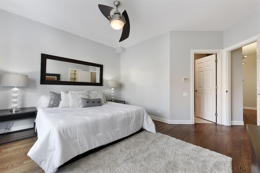 Real Estate Photography - 738 N. Hudson, Chicago, IL, 60654 - Master Bedroom
