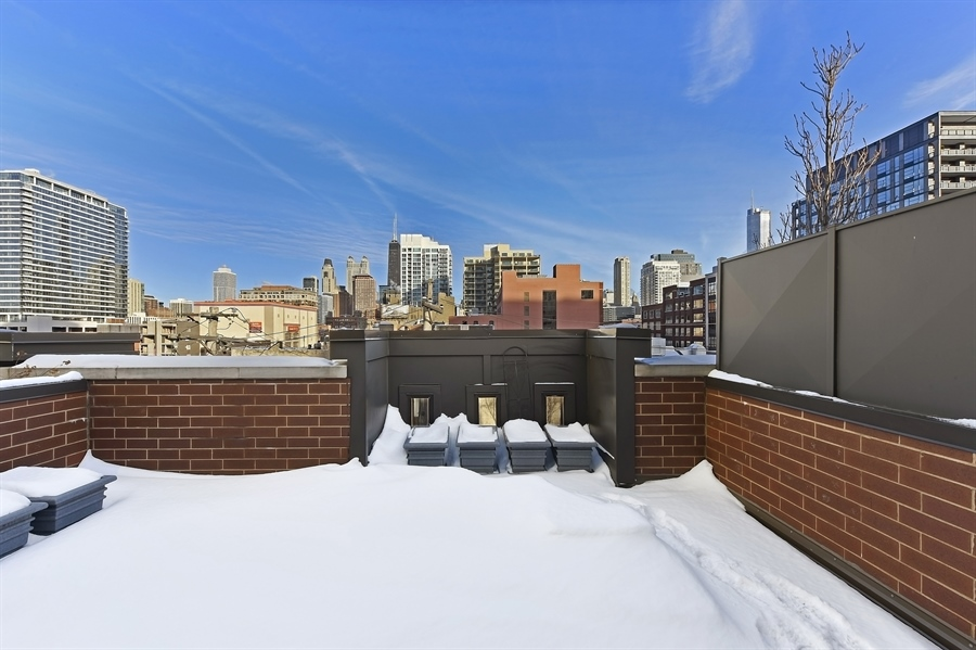 Real Estate Photography - 738 N. Hudson, Chicago, IL, 60654 - Roof Deck