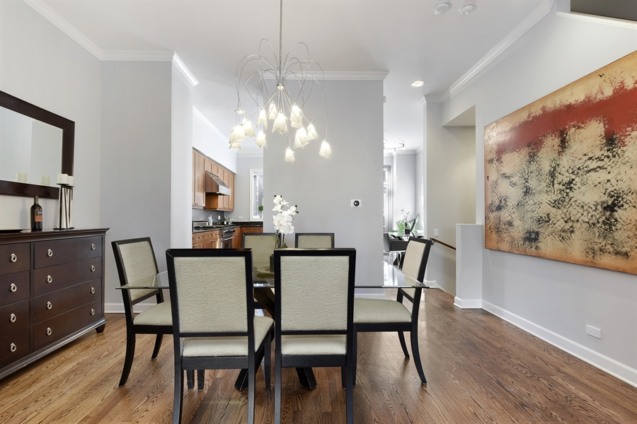 Real Estate Photography - 738 N. Hudson, Chicago, IL, 60654 - Dining Room