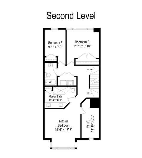 Real Estate Photography - 738 N. Hudson, Chicago, IL, 60654 - Floor Plan