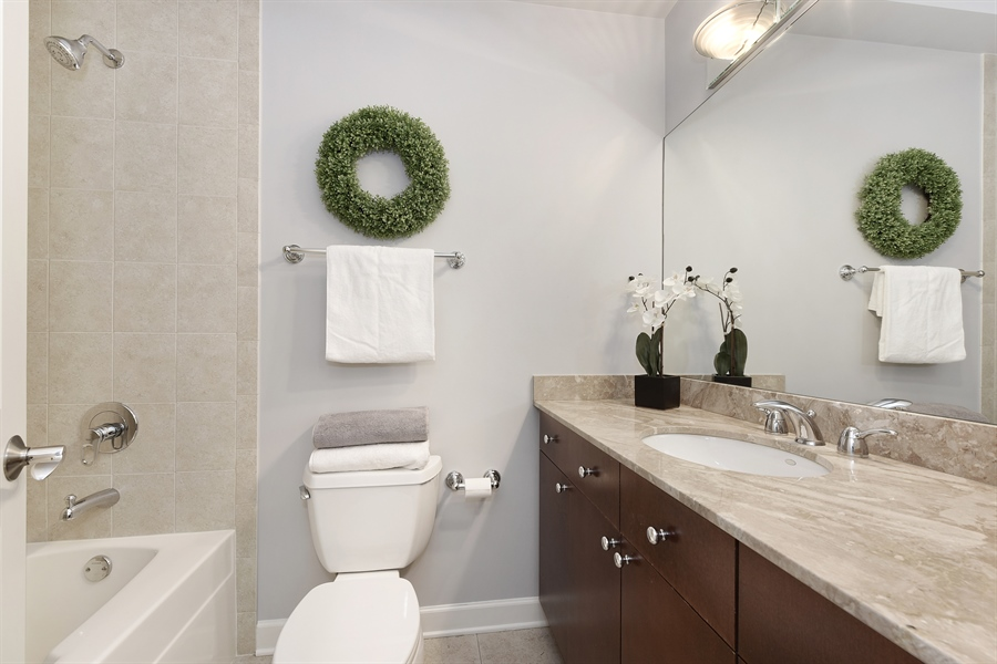 Real Estate Photography - 738 N. Hudson, Chicago, IL, 60654 - 2nd Bathroom