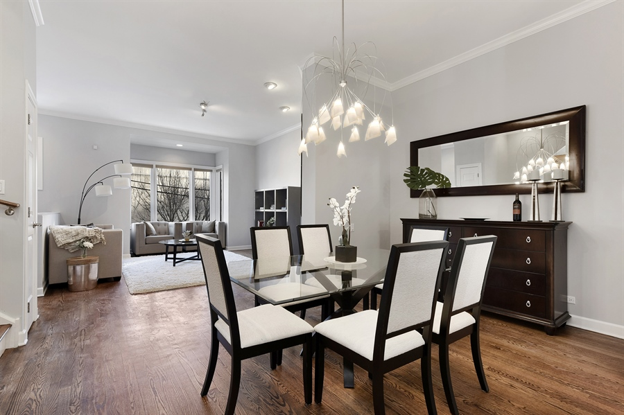 Real Estate Photography - 738 N. Hudson, Chicago, IL, 60654 - Living Room / Dining Room