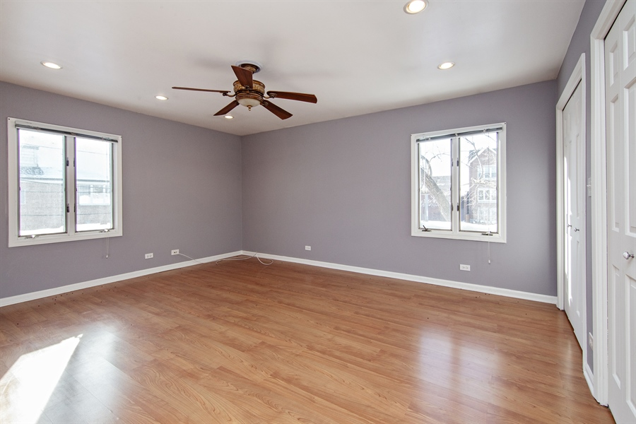 Real Estate Photography - 1837 Prairie, Glenview, IL, 60025 - Spacious and Relaxing Master Bedroom